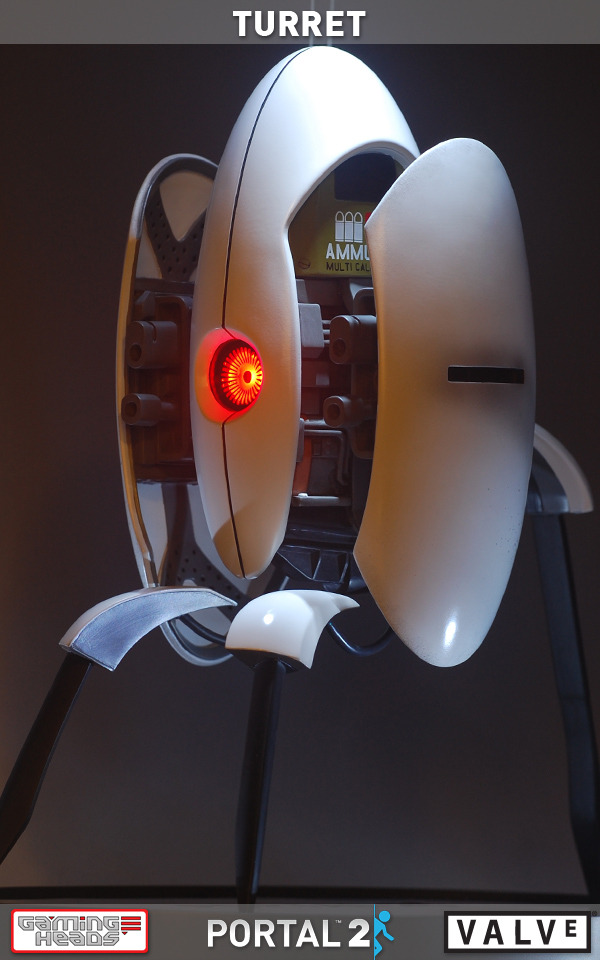 Portal 2 Aperture Sentry Turret Statue At Mighty Ape Nz