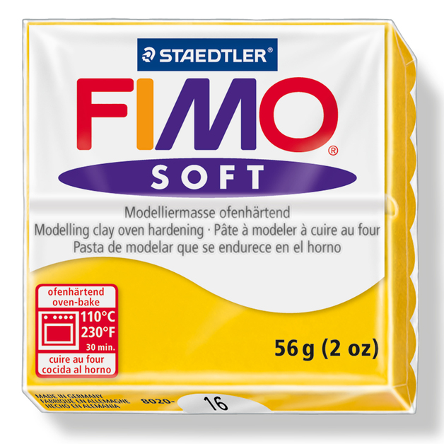 Staedtler Fimo Soft Modelling Clay Block - Sunflower (56g)