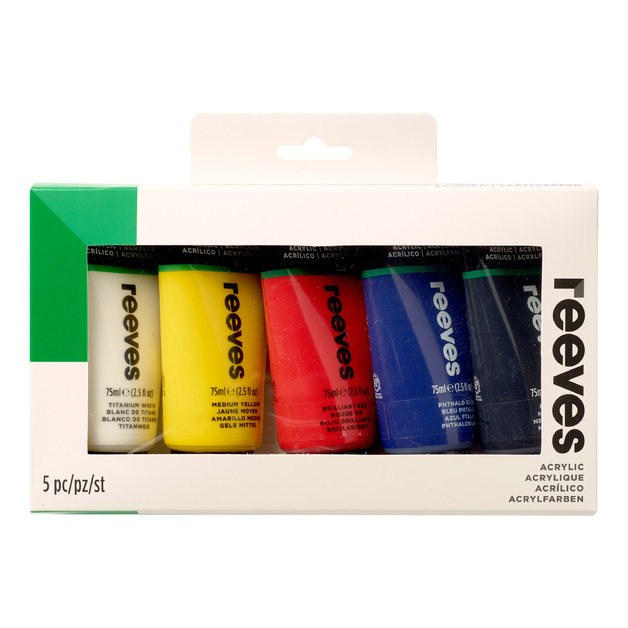 Reeves Fine Acrylic Set of 5 (5x75ml)