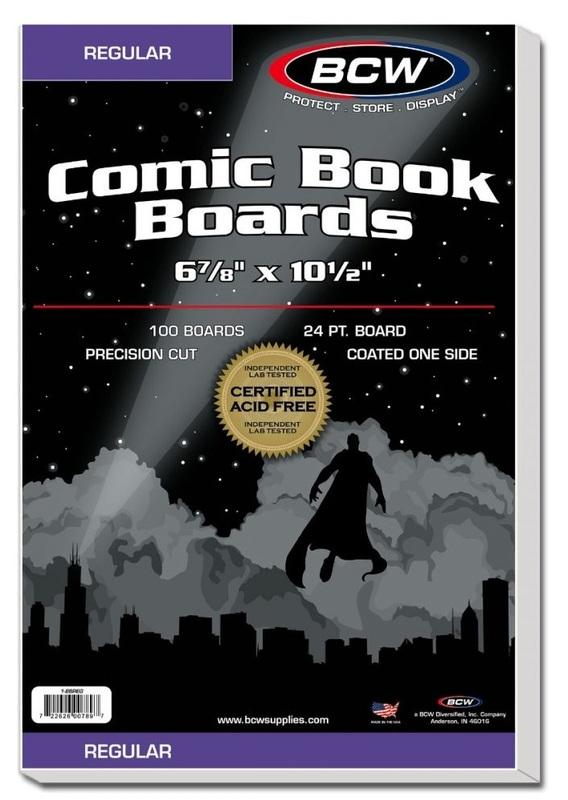 "BCW: Comic Backing Boards - Regular (6.8"" x 10.5"")"