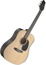 Stagg SW201 Acoustic Guitar (Natural)