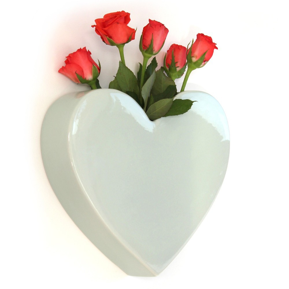 Me & My Trend Wall Mounted Heart Vase - Mint image