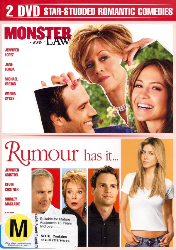 Monster In Law / Rumour Has It (2 Disc Set) on DVD image