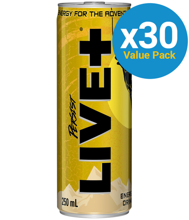 Live Plus Persist Energy Drink 250ml (30 Pack)