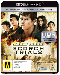 The Maze Runner 2: Scorch Trials on Blu-ray, UHD Blu-ray, UV