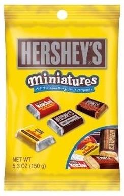 Hershey's Peg Bag Miniatures Asstd 150g image