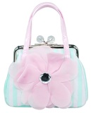 Pink Poppy: High Tea Princess Clasp Handbag - Mint