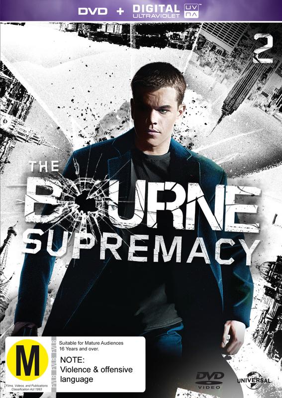 The Bourne Supremacy on DVD, UV