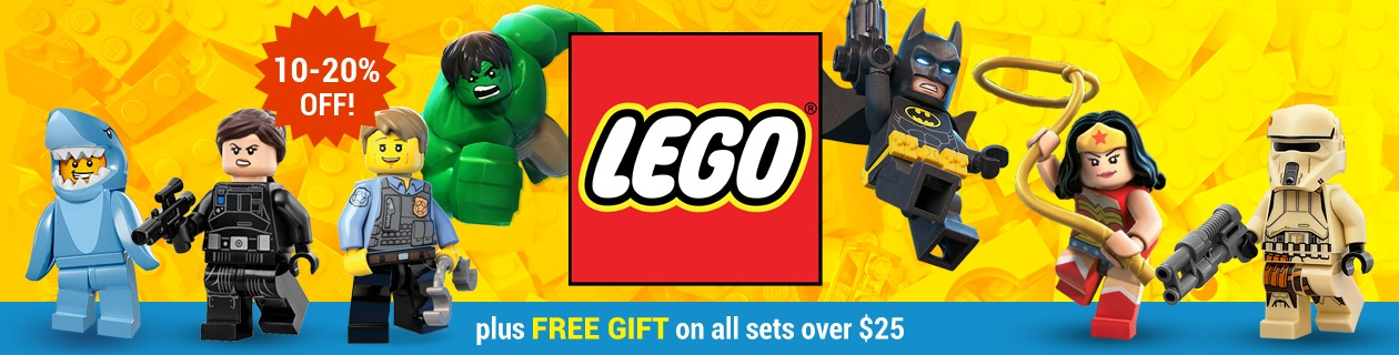 10-20% off LEGO sets