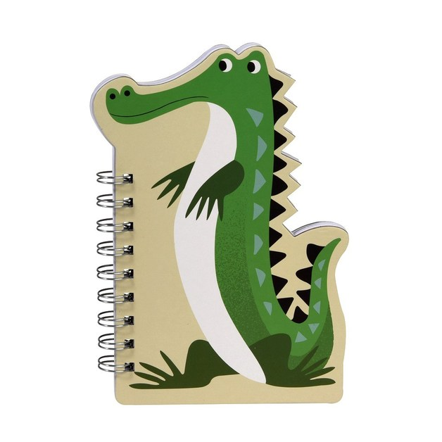 Colourful Creatures Spiral Notebook - Crocodile