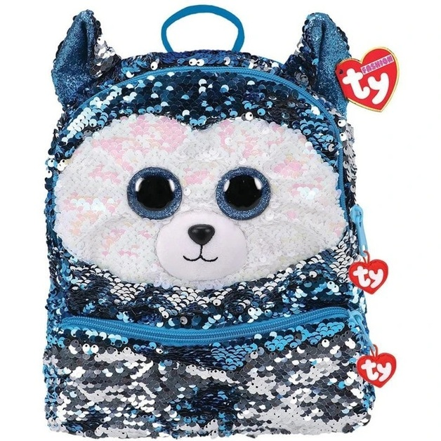 Ty Fashion: Sequin Backpack - Slush the Dog