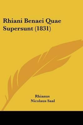 Rhiani Benaei Quae Supersunt (1831) by Rhianus image