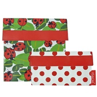 Sachi Reusable Lunch Pocket Set - Lady Bugs
