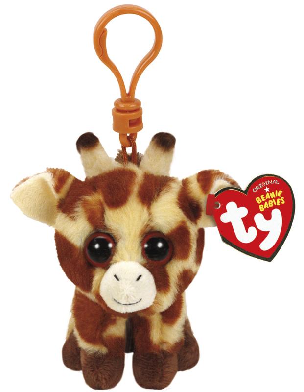 Ty Beanie Babies: Peaches Giraffe - Clip On Plush