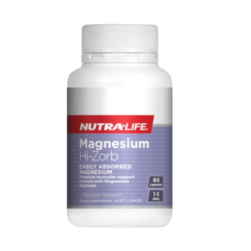 Nutra Life: Magnesium Hi-Zorb Caps (60s)