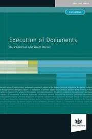 Execution of Documents by Mark Anderson