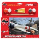 Airfix Mitsubishi Zero Starter Set 1/72 Model Kit