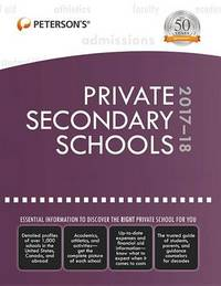 Private Secondary Schools 2017-18 by Peterson's image