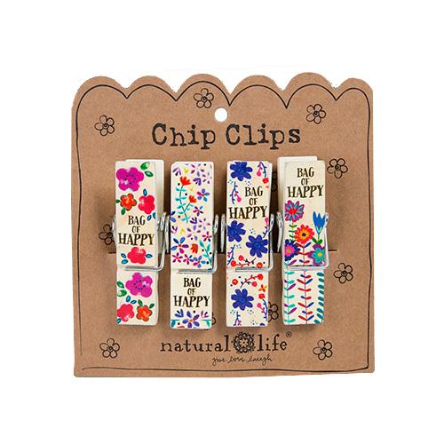 Natural Life: Chip Clip - Bag Of Happy (Set of 4)