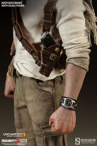Sideshow Collectibles Uncharted 3 Nathan Drake 12 Action Figure