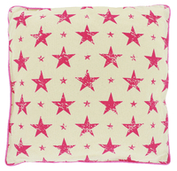Black Robin Star Cushion