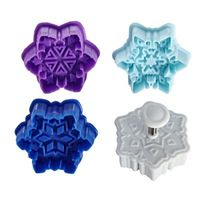 3D Snowflake Cookie Cutter Stamps (Set Of 4)