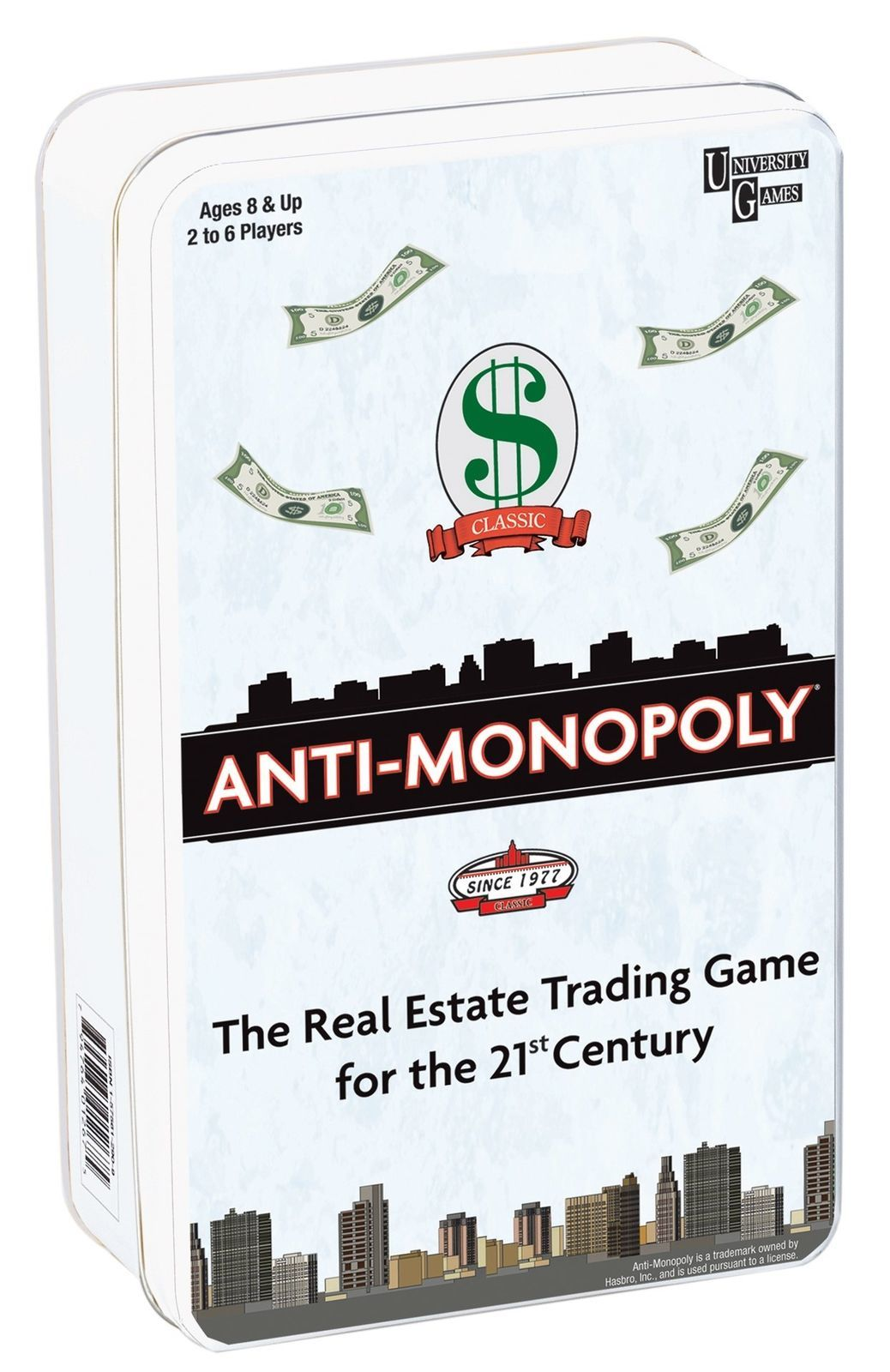 Anti-Monopoly - Tin Travel Game image