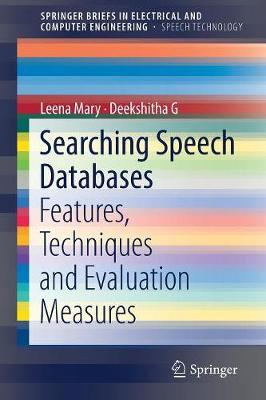 Searching Speech Databases by Leena Mary image