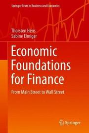 Economic Foundations for Finance by Thorsten Hens