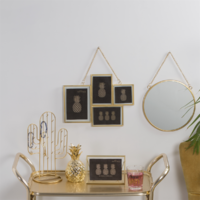 Sass & Belle: Touch Of Gold Round Mirror image