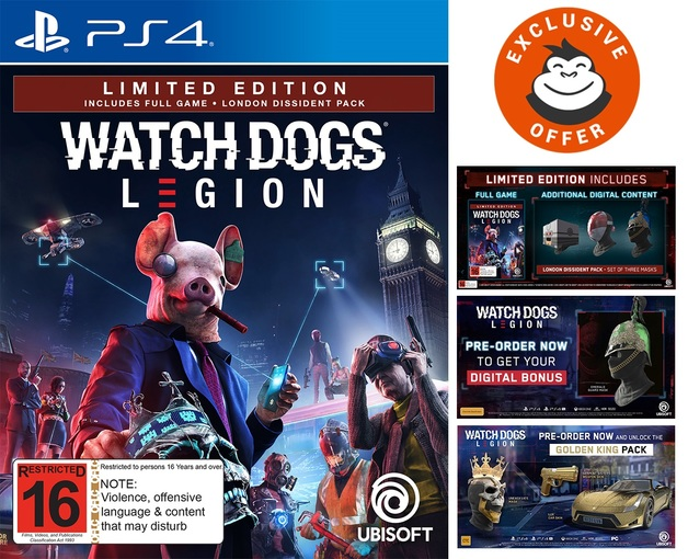 Watch Dogs Legion Limited Edition for PS4