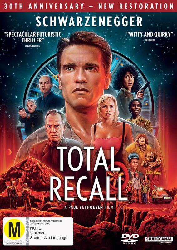Classics Remastered: Total Recall (1990) on DVD