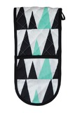 General Eclectic Double Ended Oven Mitt (Mint Triangle)