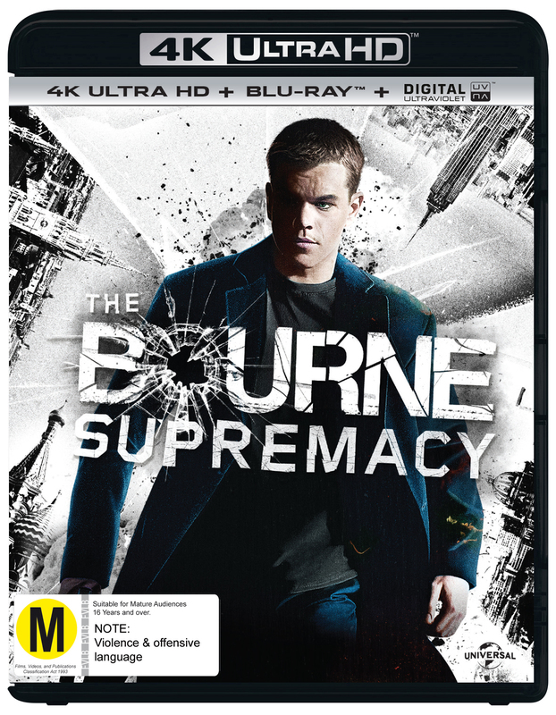 The Bourne Supremacy on Blu-ray, UHD Blu-ray, UV