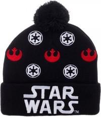 Star Wars: Logo Black - Cuff Pom Beanie