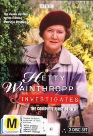 Hetty Wainthropp Investigates - Series 1 (2 Disc Set) on DVD image