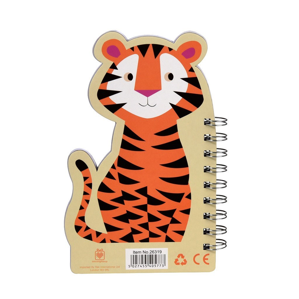 Colourful Creatures Spiral Notebook - Tiger image
