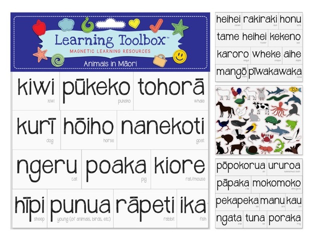 NZ Learning: Magnetic Maori Words - Animals