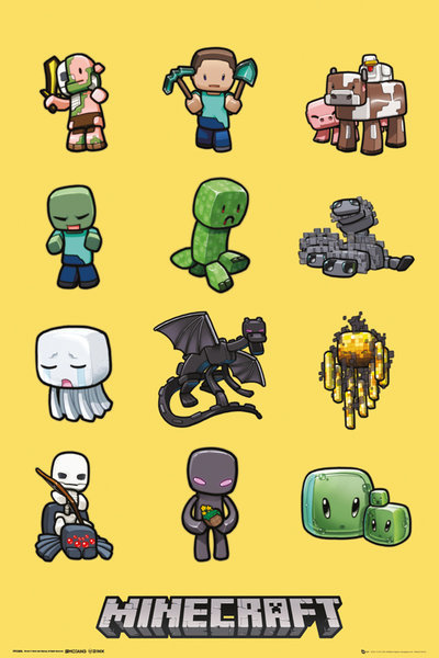 Minecraft Maxi Poster - Characters (194)