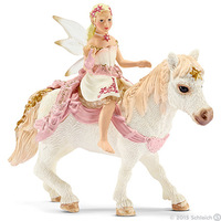 Schleich: Delicate Lily Elf with Pony
