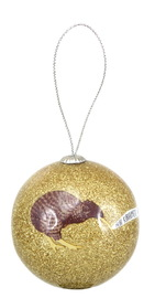 Antics: Christmas Decoration - Gold Kiwi image