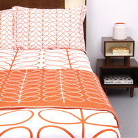Orla Kiely King Duvet Cover - Linear Stem (Persimmon)