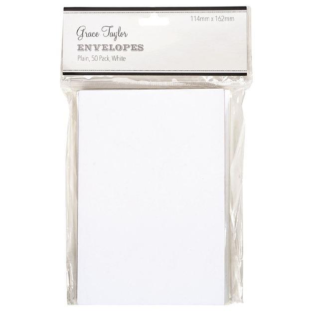 Grace Taylor Envelopes - White (50 Pack)