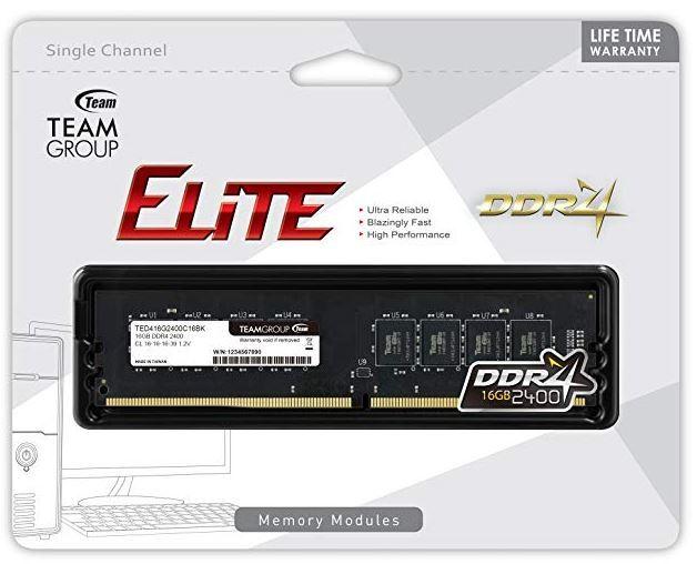 1x8GB Team ELITE 2400MHz DDR4 RAM