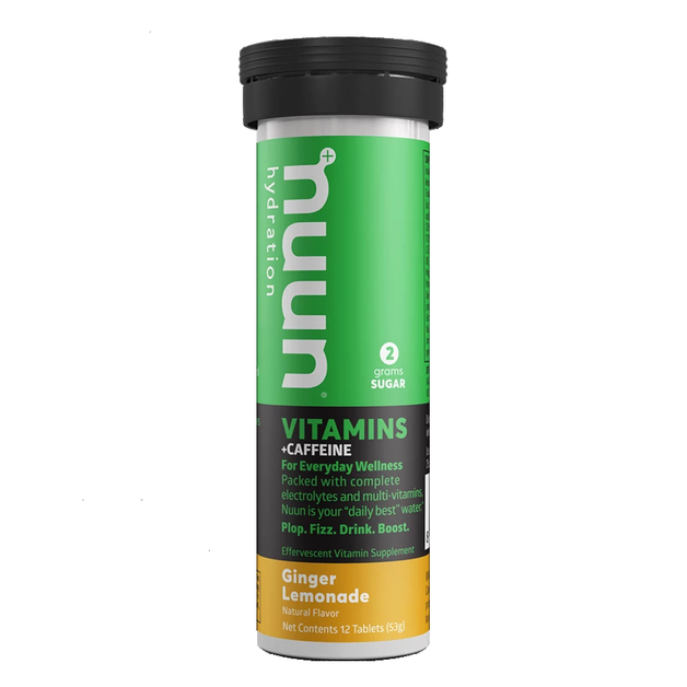 Nuun Vitamin Tablets - Ginger Lemonade w Caffeine