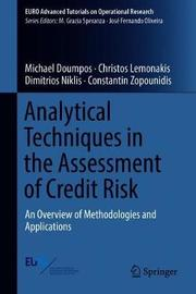 Analytical Techniques in the Assessment of Credit Risk by Michael Doumpos