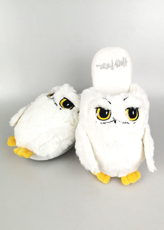 Harry Potter: Hedwig Mule Slippers - White Ladies Large (UK 5-7)