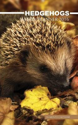 Hedgehogs Weekly Planner 2016: 16 Month Calendar by Jack Smith image