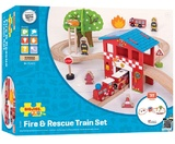 Bigjigs - Fire Station Train Set