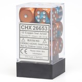 Chessex Gemini 16mm D6 Dice Block:Copper-Teal/Silver
